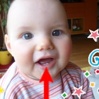Mila hat 2 Zähnchen