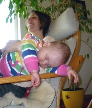 Mila Victoria ist spontan eingeschlafen.