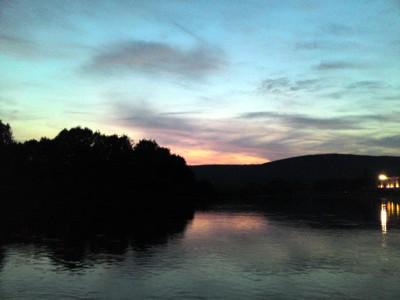 Sonnenuntergang an der Weser.