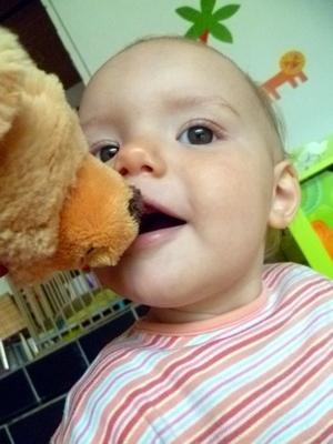 Teddy's langes Gesicht.