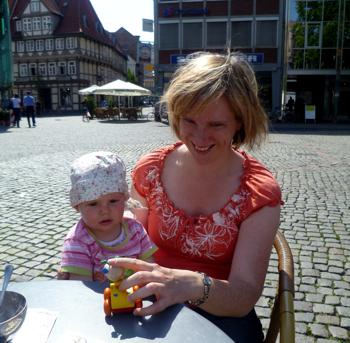 Mila und Angela in Braunschweig.