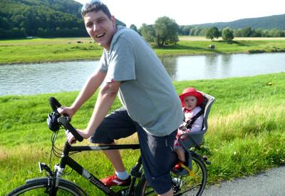 Milas erste Fahrradtour.