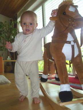 Mila und ihr Pferd Dada.