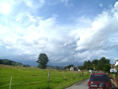 Unwetter über dem Weserbergland.