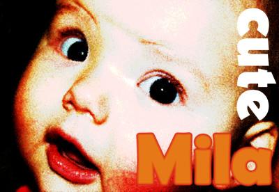 Milas erstes Plattencover