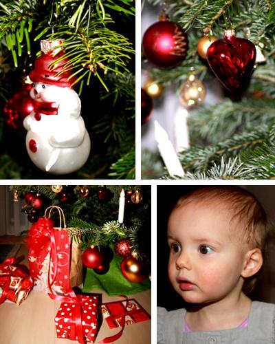 Mila und der Weihnachtsbaum.