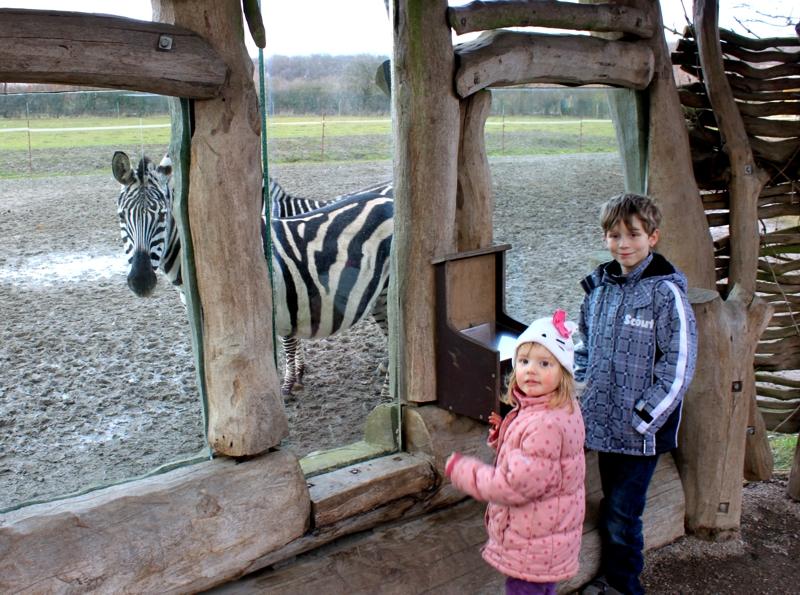 Mila und Vince im Zoo